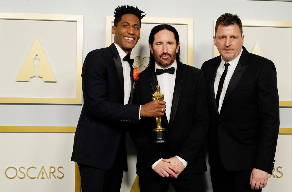 Trent Reznor, Atticus Ross and Jon Batiste 93rd Annual Academy Awards - Press Room