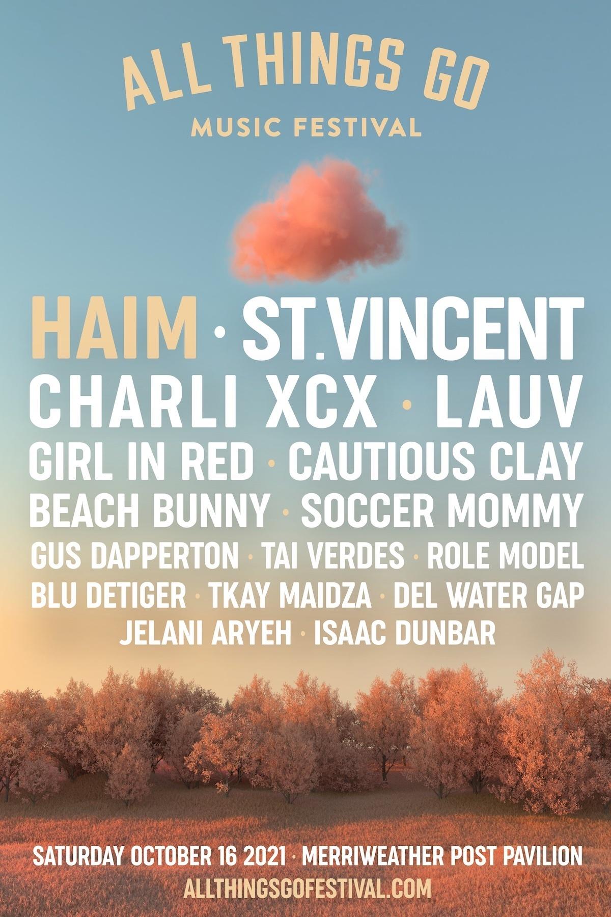 Haim, St. Vincent, Charli XCX Headline All Things Go Fest
