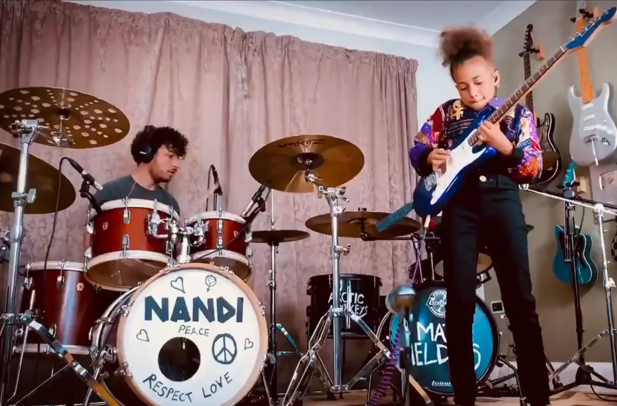 Watch Nandi Bushell and Arctic Monkeys Drummer Matt Helders Cover 'I Bet You Look Good on the Dancefloor'