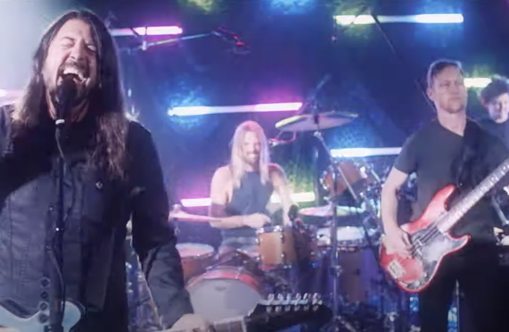 Foo Fighters Transform Into Dee Gees For 'You Should Be Dancing' Video