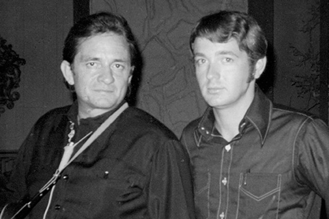 Johnny Cash and Chance Martin