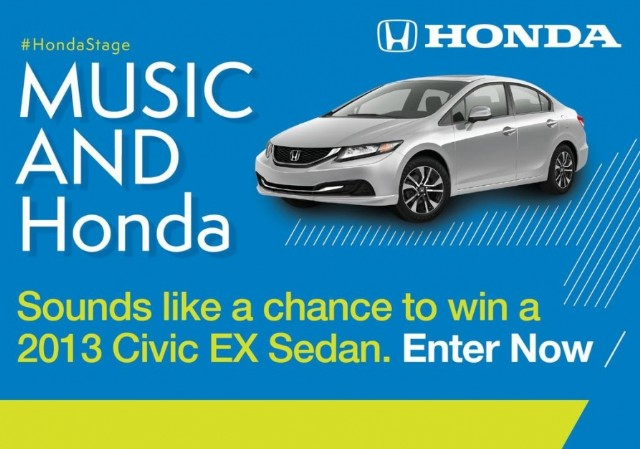 Win A 2013 Honda Civic EX Sedan With Honda And Music | SPIN