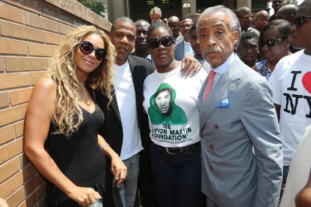 Beyonce Jay Z Travyon Martin rally