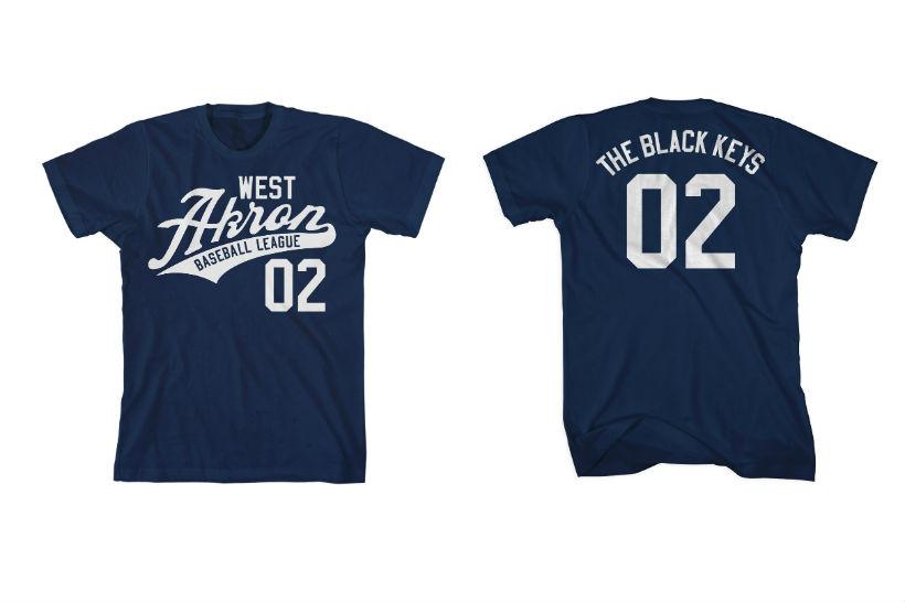 Black Keys Little League Baseball T-Shirts Akron