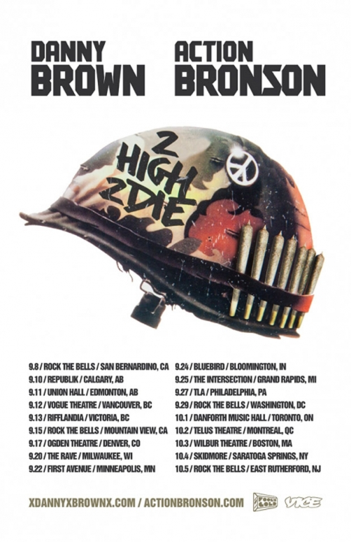 Danny Brown Action Bronson 2 high 2 die tour