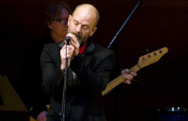 R.E.M.'s Michael Stipe and Mike Mills