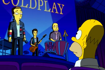 Watch Coldplay Guest On The Simpsons Spin