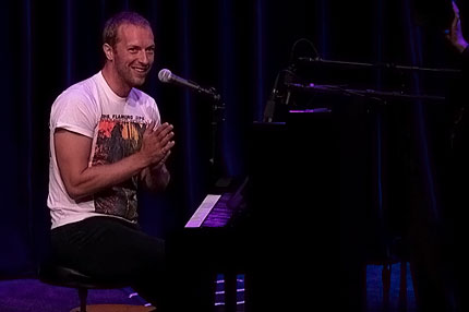 Coldplay's Chris Martin Plays New Song