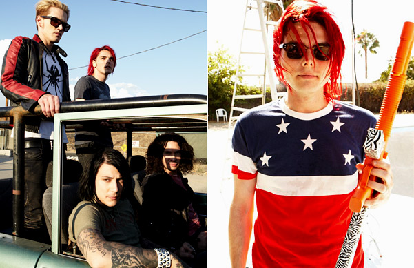 my chemical romance behind december 2010 s spin cover shoot spin