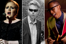 Adele / Beastie Boys' Adam Yauch (MCA) / Raphael Saadiq (Photo: Getty Image, Adele; Stephanie Ma, Redfoo)