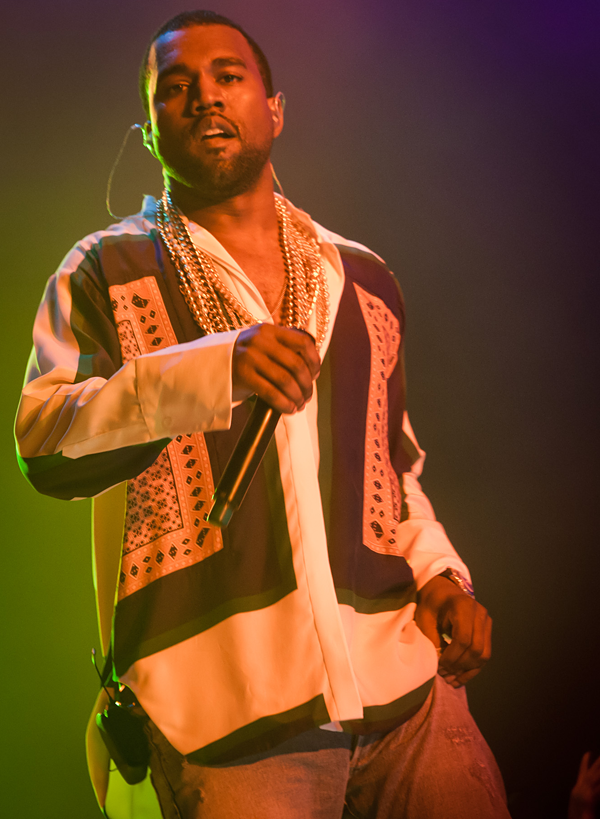 Headliner Kanye West goes ham on the Blue Stage