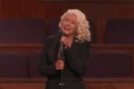 See Christina Aguilera Belt 'At Last' at Etta James' Funeral