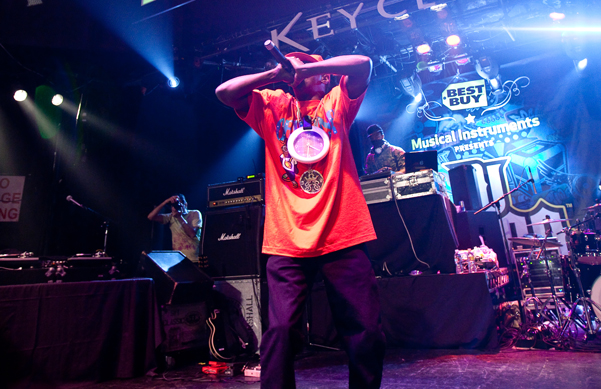 Flava Flav On Stage at the Key Club