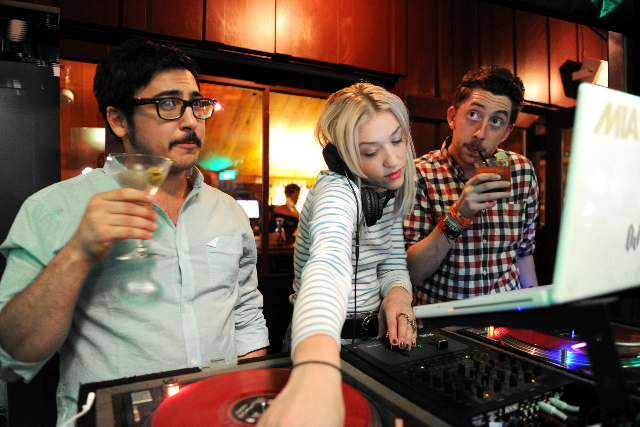 Passion Pit's Ayad Al Adhamy and Jeff Apruzzese with Mia Moretti