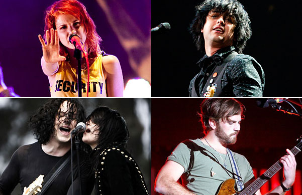 Paramore, Green Day, Kings of Leon, the Dead Weather