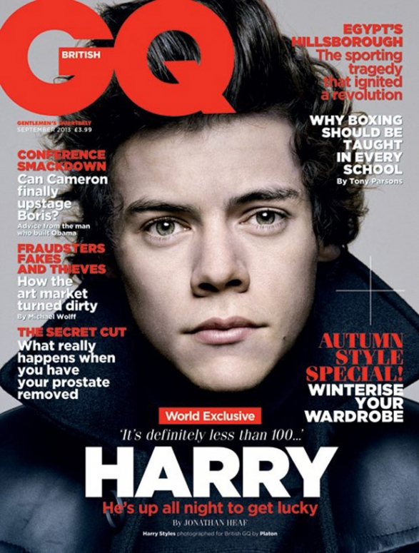Harry Styles GQ cover one direction threats
