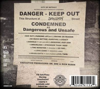 Eminem Marshall Mathers LP 2 MMLP2 Track List Rihanna Kendrick