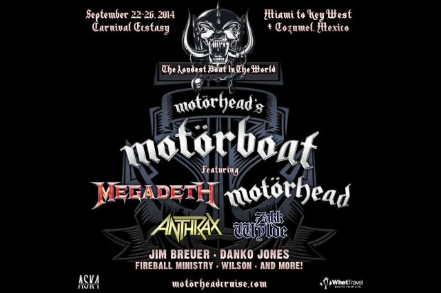 Anthrax and Megadeth on Board for Motorhead's MotorBoat