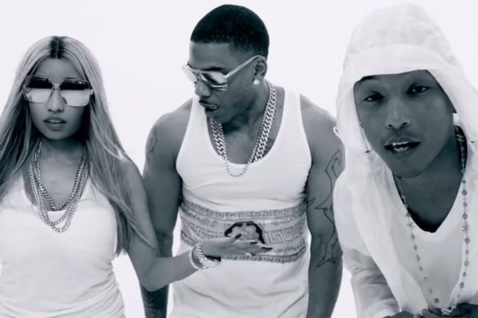 Nelly Nicki Minaj And Pharrell Throw Booty Bongo Party