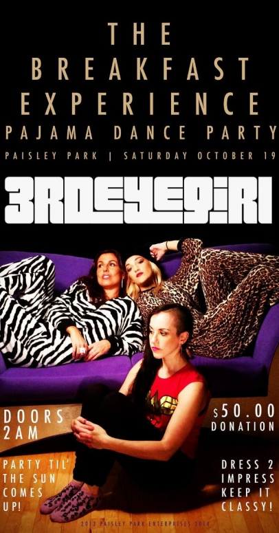 Prince Pajama Party Paisley Park Breakfast House Concert