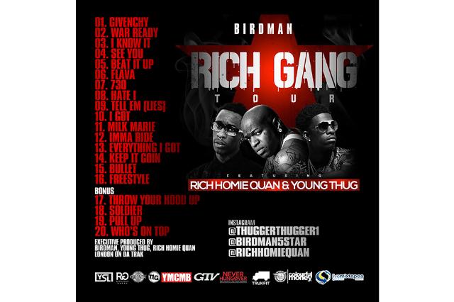 Rich Gang Tha Tour Full Album