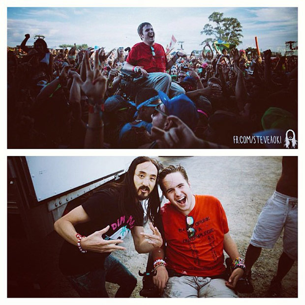 Steve Aoki wheelchair cake video