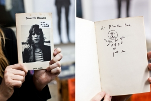 Patti Smith's inscription to Bleecker Bob / Photo by Jolie Ruben