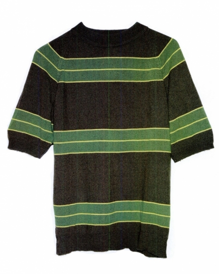 "The shirt worn by Cobain in the ""Smells Like Teen Spirit"" video, photographed at his mother's house  in Olympia, Washington"