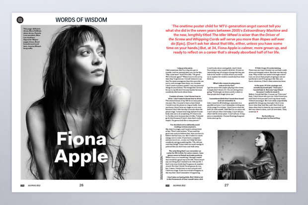 Fiona Apple in SPIN's July/August Issue
