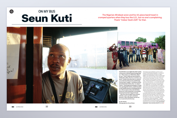Seun Kuti in SPIN's July/August Issue