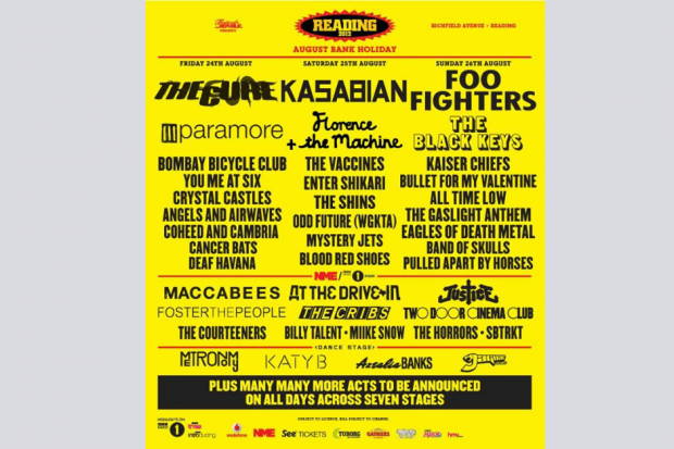 Reading 2012 lineup