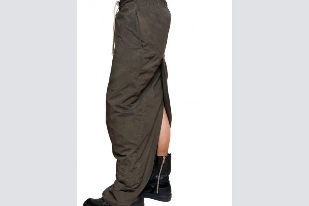 Rick Owens' Double Stretch Poplin Skirt