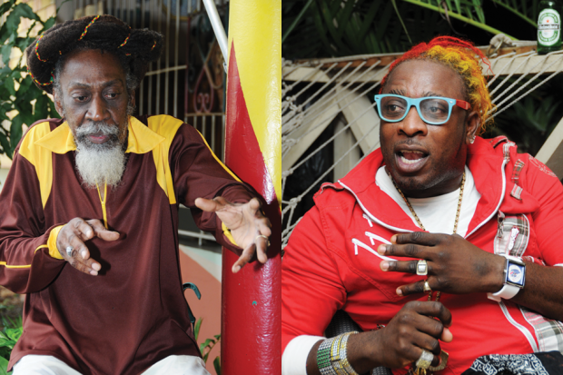 Bunny Wailer (left) and Elephant Man / Photo by Julian Thomann