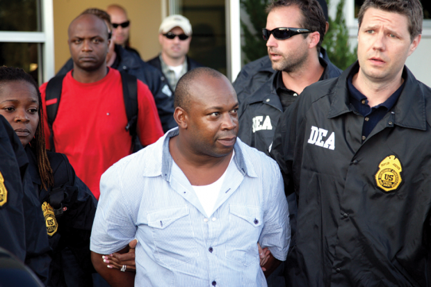 Dudus arrives in New York after extradition, June 24, 2010 / Photo by David Karp/AP Photo