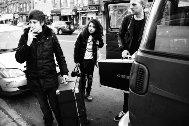 March 10, 5:30 p.m., Loading in at Knitting Factory / Photo by Michael Flores