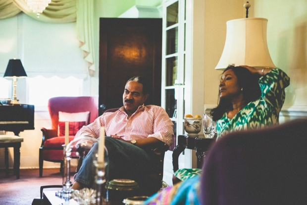 Valerian Smith II and Kim Butler-Smith, at their father's home, Baton Rouge.