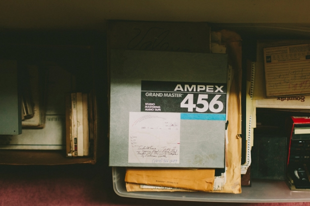 Cache of Valerian Smith's master tapes (Photo by Daymon Gardner)