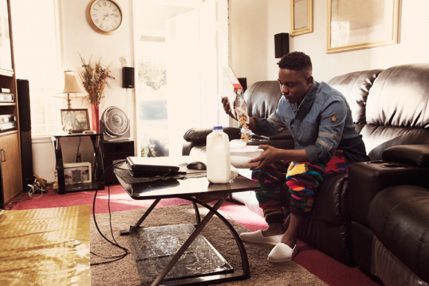 Kendrick Lamar at his mother's home in Compton, 2012 / Photo by Dan Monick