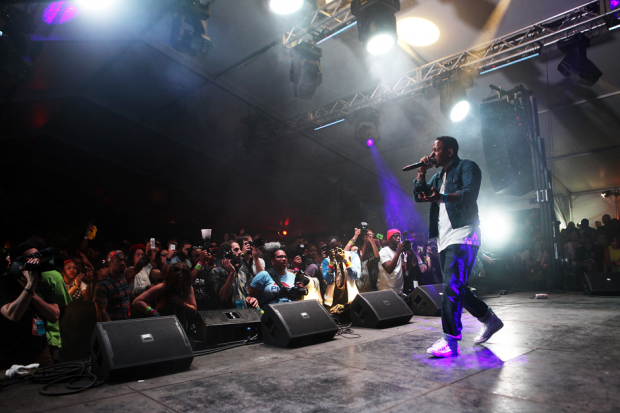 Kendrick Lamar performs during SXSW, 2012 / Photo by Getty Images