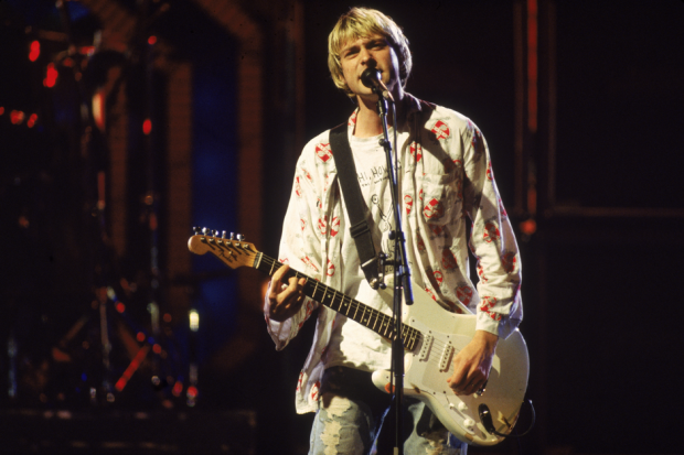 Kurt Cobain at the MTV Video Music Awards, September 10, 1992 / Photo by Frank Micelotta/Getty