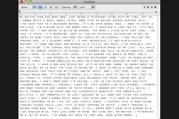 Frank Ocean's Tumblr letter