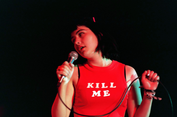 Bikini Kill during Rock for Choice 1993 at The Palladium in Hollywood, CA / Photo by Jeff Kravitz/FilmMagic, Inc