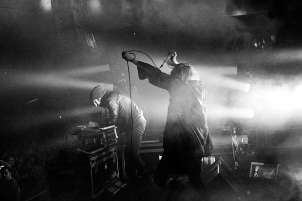 Crystal Castles perform at NYC's Roseland Ballroom, October 2012 / Photo by Kenneth Bachor