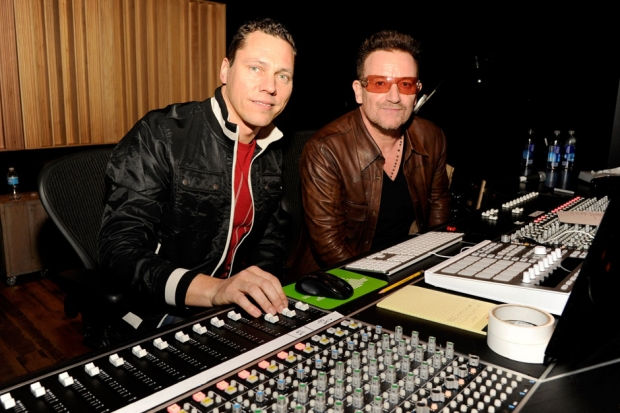 Tiesto and Bono / Photo by Kevin Mazur/WireImages