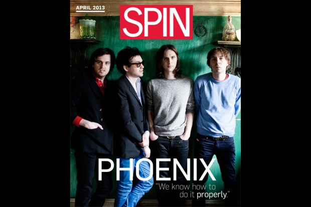 April 2013 cover of SPIN Play, Photo by Jimmy Fontaine