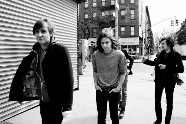 From left: Thomas Mars, Deck d'Arcy, Laurent Brancowitz, and Christian Mazzalai; New York City, 2013 / Phoenix in New York City's East Village, 2013; photo by Jimmy Fontaine