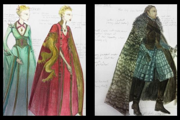Clapton's sketches / Photos courtesy of Michele Clapton