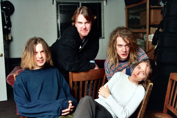 Beck, Soul Asylum's Dan Murphy & Dave Pirner, and Liz Phair at McCabe's Guitar Store, 1993 / Photo by Jeff Kravitz/FilmMagic