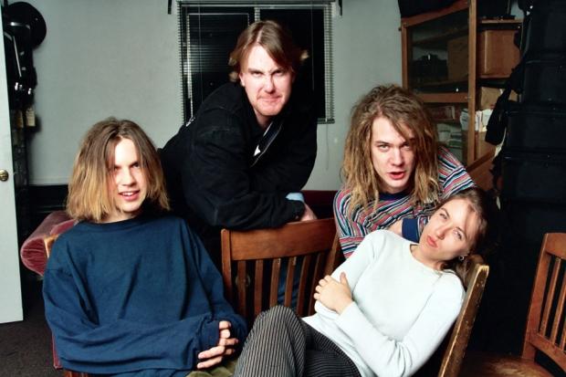 Beck, Soul Asylum's Dan Murphy & Dave Pirner, and Liz Phair at McCabe's Guitar Store, 1993 / Photo by Jeff Kravitz/FilmMagic