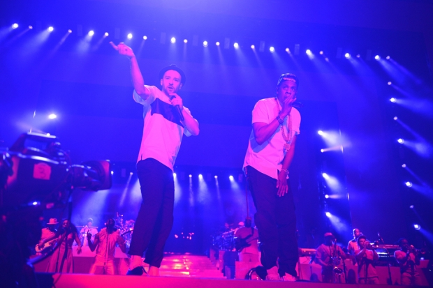 Jay Z and Justin Timberlake, Rogers Centere, Toronto, July 17, 2013/ Photo by Getty Images